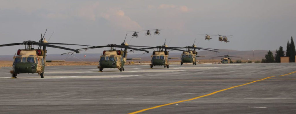 Strengthening Jordan's stability, U.S. Delivers 12 New Black Hawk Helicopters