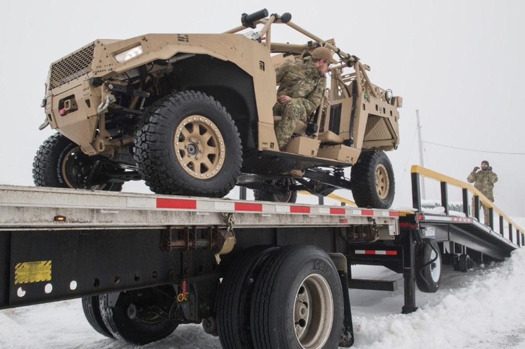 Although unarmoured, the Canadian Special Forces' ULCV provides fast, mobile transportation over demanding terrain, and is air-transportable by Chinook helicopter