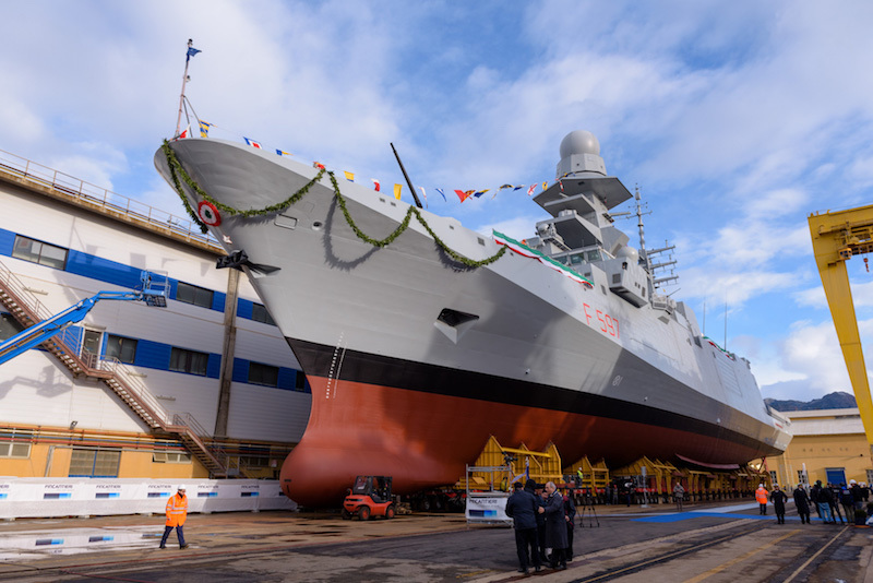 The eighth multipurpose frigate «Antonio Marceglia» launched