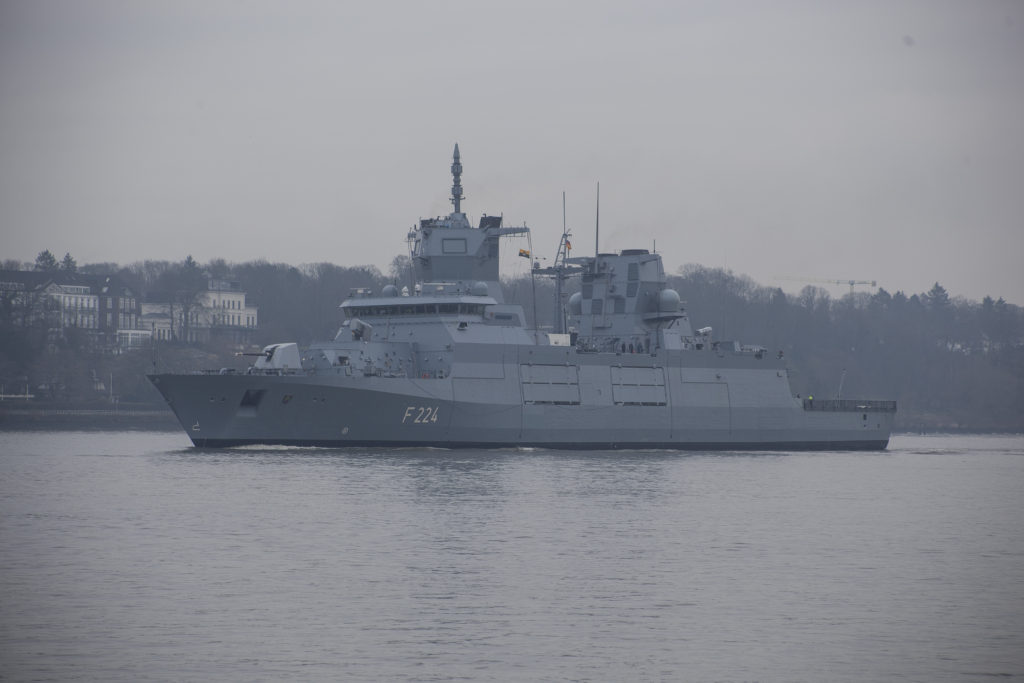 Third Class 125 frigate for German Navy heads for sea trials