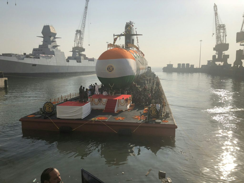 Karanj, third Indian-made Scorpene-class submarine, launched