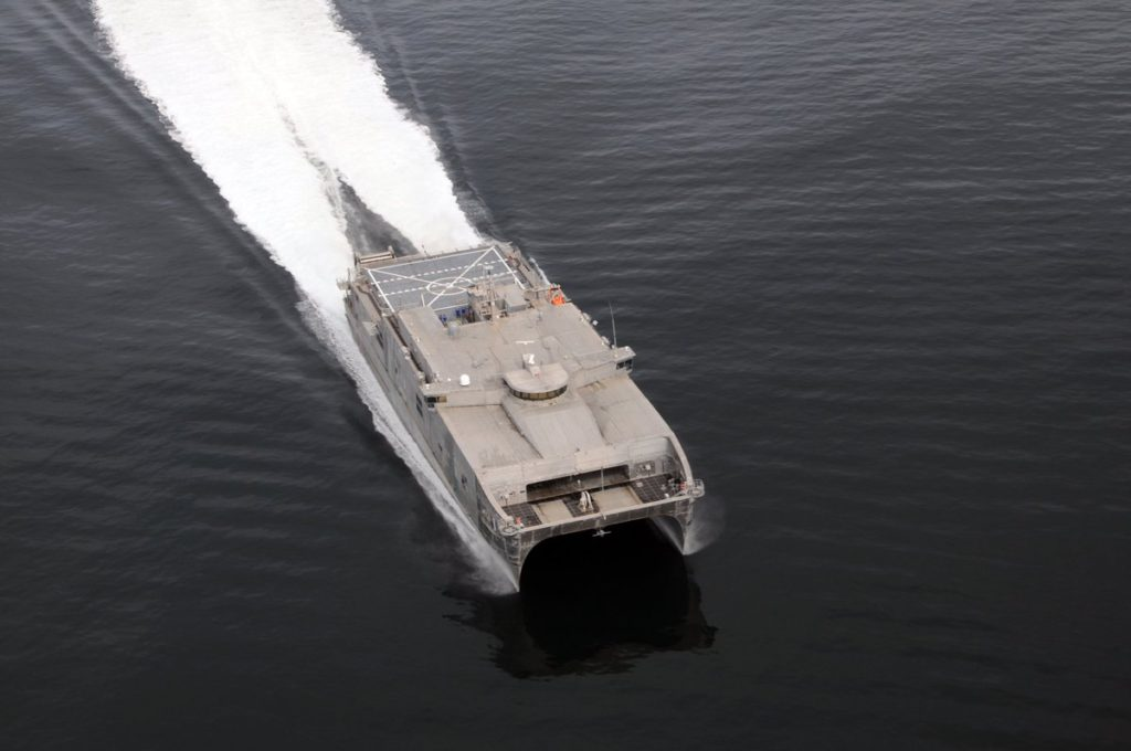 Navy christened Expeditionary Fast Transport Burlington