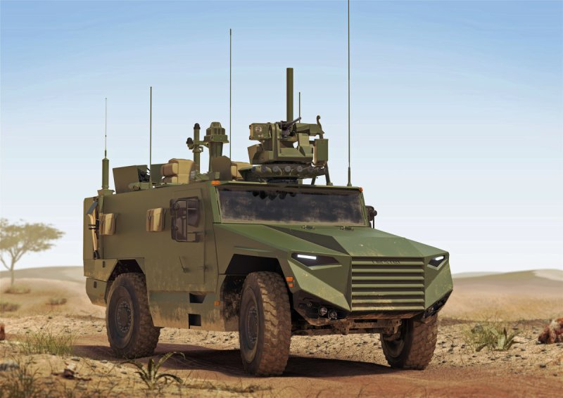 An artist's impression of the Véhicules Blindés Multi-Rôles Léger (VBMR Light), the next-generation multirole armored vehicle that will equip the French army's combat units. Over 2,000 are planned to enter service by 2030 (Nexter image)