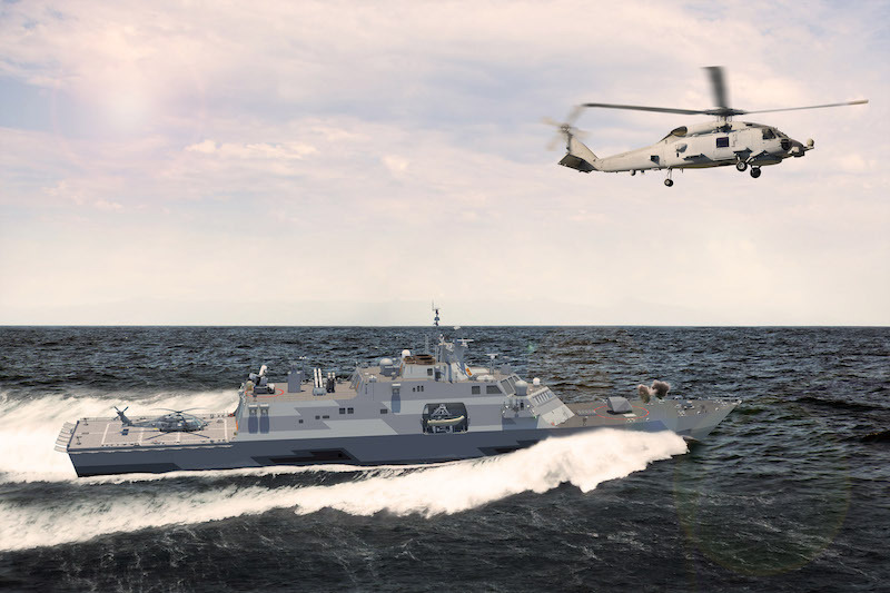 The MMSC is basically an up-gunned variant of Lockheed's Littoral Combat Ship design, integrating the latter's mission modules into the basic ship. The Saudi program will cost upwards of $11 billion for four MMSC ships, spares and support (LM image)