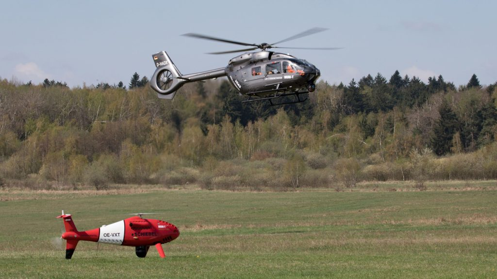 Airbus Helicopters and Schiebel have tested Manned Unmanned Teaming (MUM\u002DT) capabilities between an H145 platform and a CAMCOPTER S\u002D100 Unmanned Air System (UAS), thus becoming the first European helicopter manufacturers to demonstrate this technology with the highest level of interoperability (LOI°5)