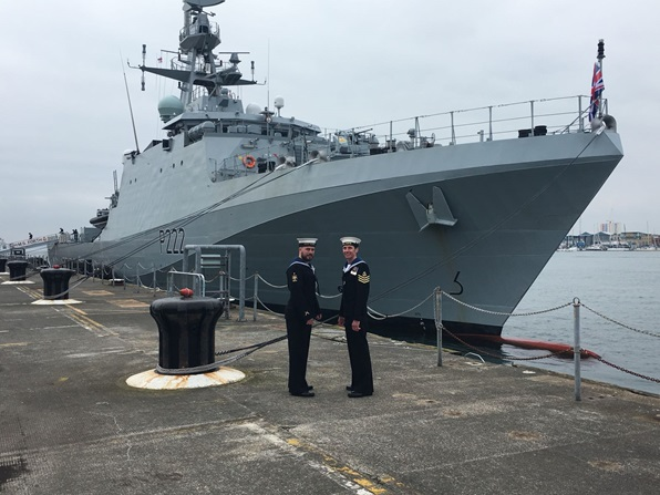 HMS Forth (P222) is officially commissioned into the Royal Navy