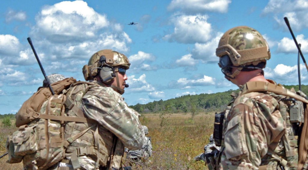 Joint Terminal Attack Controller (JTAC) from Latvia, Illinois, North Carolina and Michigan that are a part of the state partnership program worked together to direct air strikes to simulate suppressing the enemy with pinpoint accuracy during Operation Northern Strike at Grayling Air Gunnery Range in August 2014 (Photo Credit: Staff Sergeant Jason Boyd)