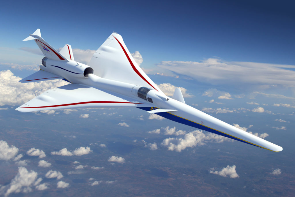 The Lockheed Martin Skunk Works' X-plane design will cruise at 55,000 feet/16,764 m, Mach 1.4, and will generate a gentle, supersonic heartbeat instead of a sonic boom