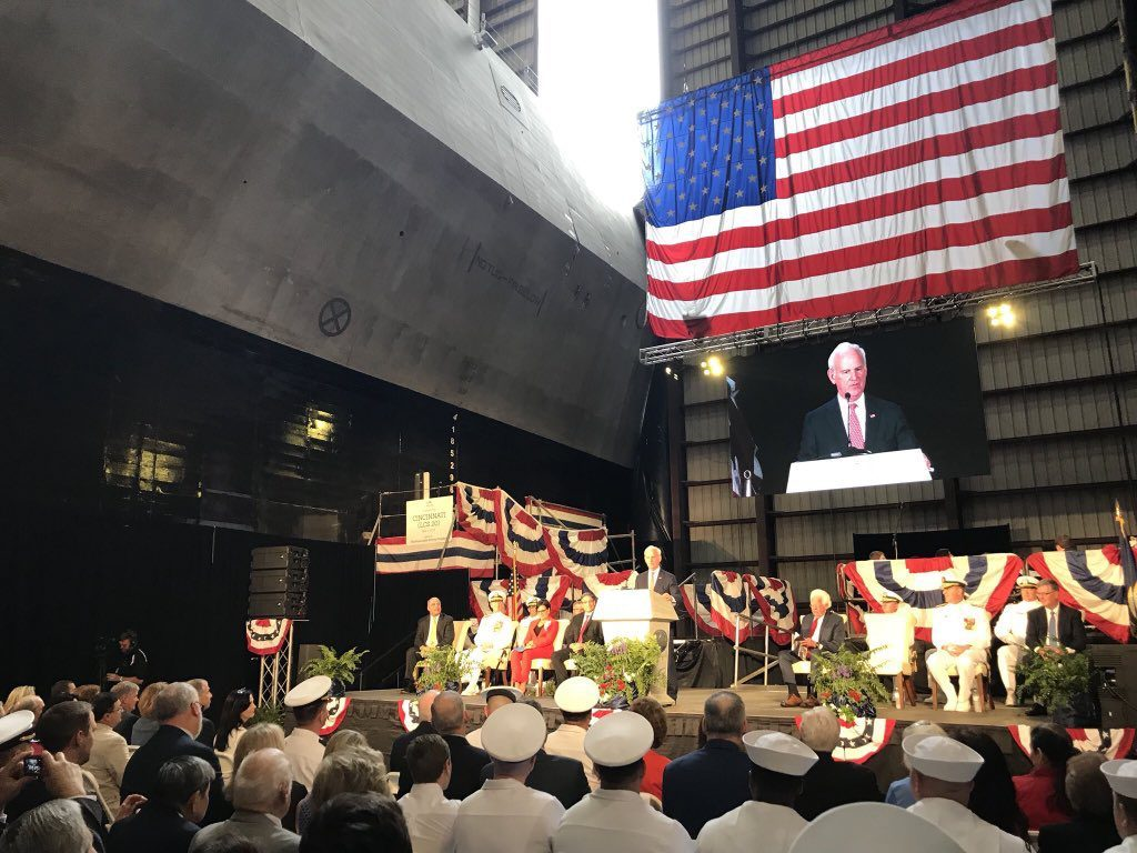 The U.S. Navy has christened its newest Independence-variant littoral combat ship (LCS), the future USS Cincinnati (LCS-20)