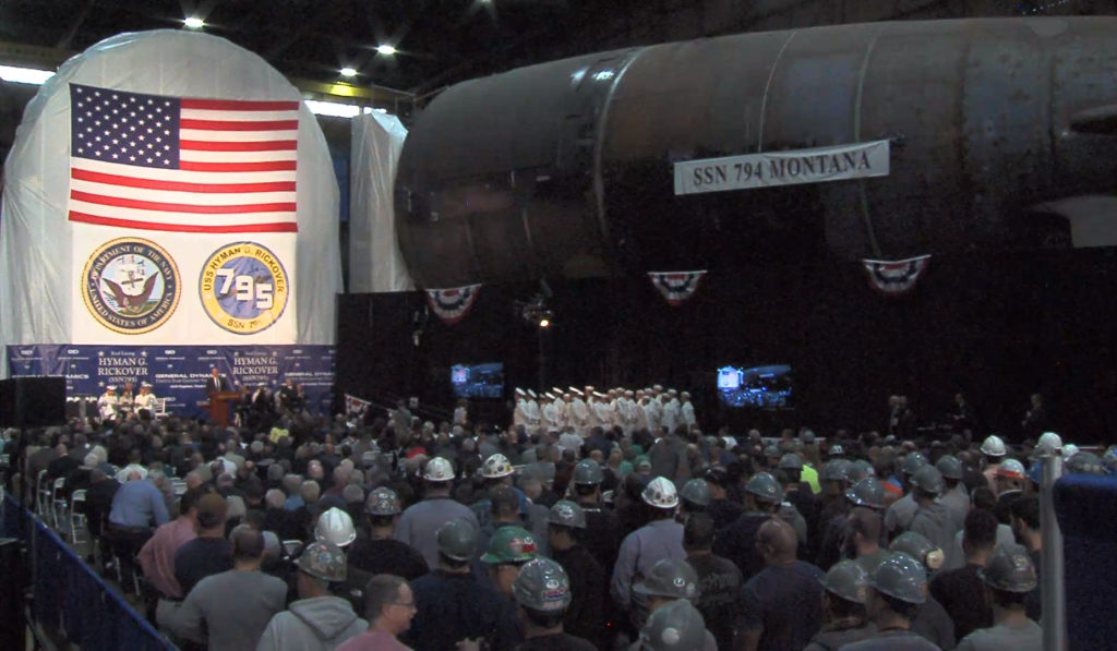 U.S. Navy & GDEB Laid Keel of Future USS Hyman G. Rickover (SSN-795)