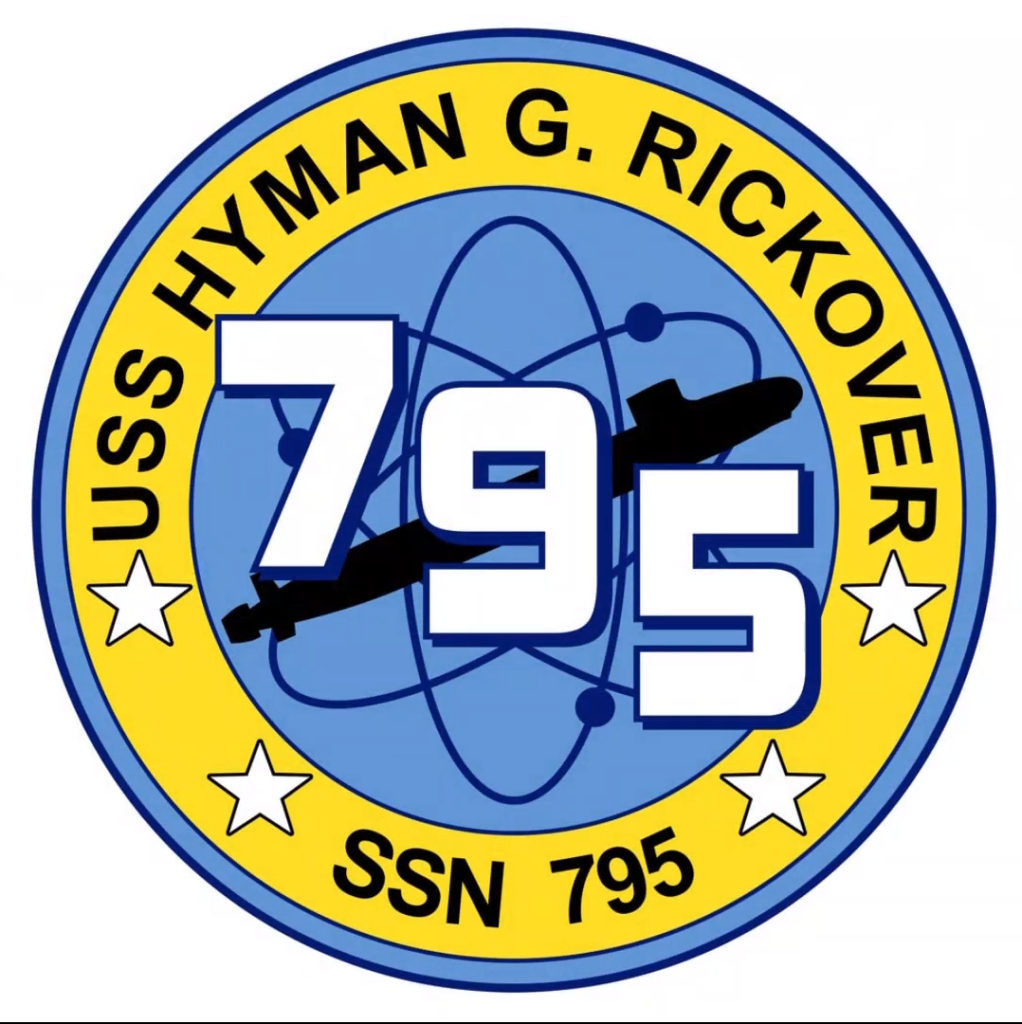 Badge of the future Virginia-Class submarine USS Hyman G. Rickover (SSN-795)