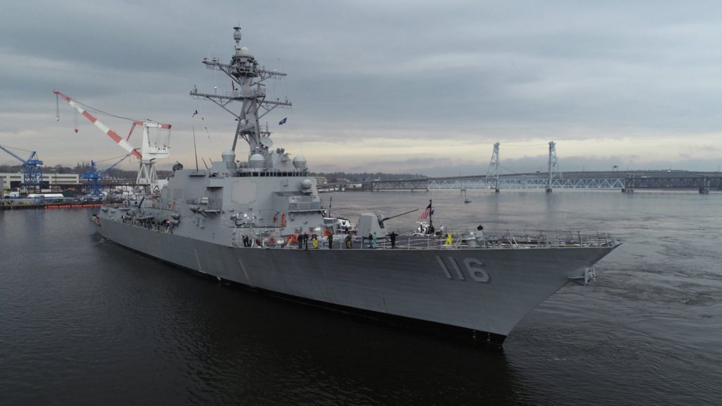 Future USS Thomas Hudner (DDG-116) completes acceptance trials