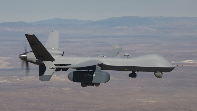 The Air Force Life Cycle Management Center recently sponsored three demonstration flights of an MQ-9 Reaper with AgilePod (Courtesy photo)