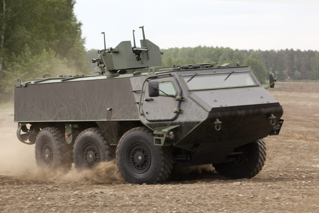 Patria 6×6 is a successor to the Pasi Armoured Personnel Carrier and to complement the vehicle fleets of customers of the legendary Patria AMV 8×8