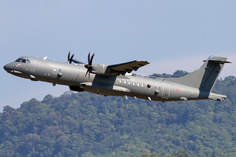 Italy's customs police ordered its first ATR-72MP maritime patrol aircraft, similar to this one operated by the Italian Air Force, with more on option. Delivery is planned for 2019 (Leonardo photo)