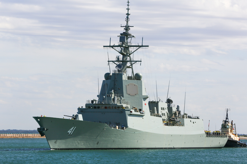 Second Air Warfare Destroyer NUSHIP Brisbane accepted by Defence