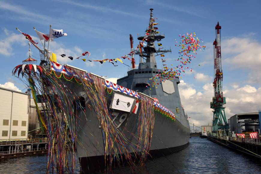 Japan launches next-generation destroyer carrying latest version of the Aegis anti-missile system