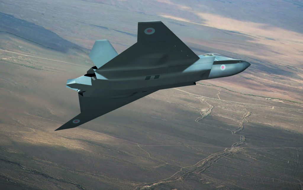 The concept aircraft has been put together by British firms including BAE Systems, Leonardo, MBDA and Rolls-Royce