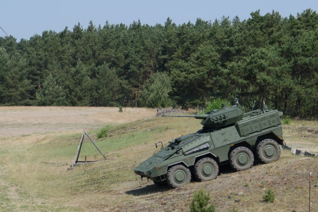 Vilkas Infantry Fighting Vehicles of the Lithuanian Armed Forces are tested in Germany