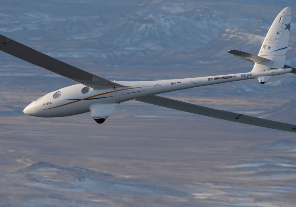 Built in Oregon and home-based in Minden, Nevada, the pressurized Perlan 2 glider incorporates a number of unique innovations to enable its mission, and reached an altitude of 62,000 feet/18,898 m during its second mission (Airbus photo)