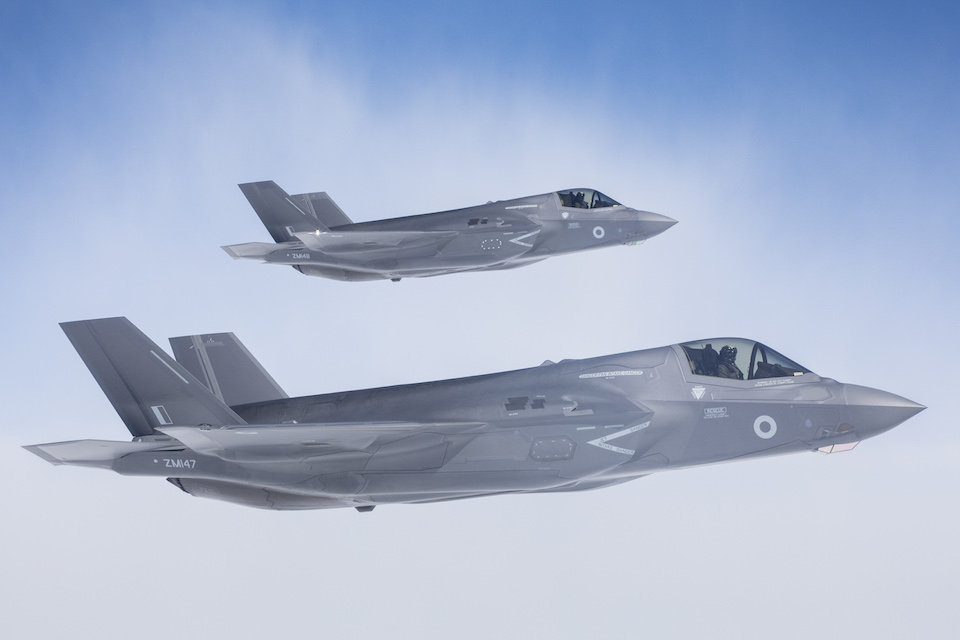 F-35B Lightning II aircraft will join HMS Queen Elizabeth (R08) when she arrives in the USA (Crown copyright)