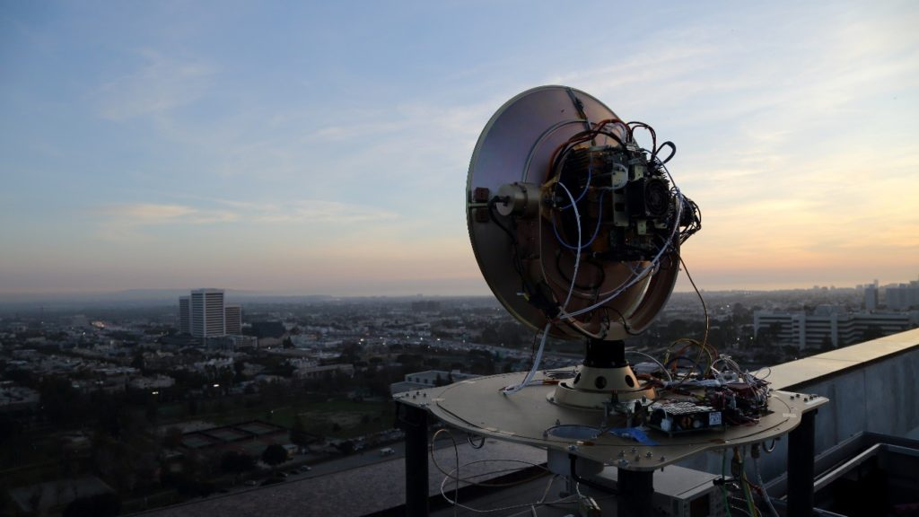 Northrop Grumman and DARPA 100 gigabits per second link demonstrated over 20 kilometer city environment on January 19, 2018 in Los Angeles