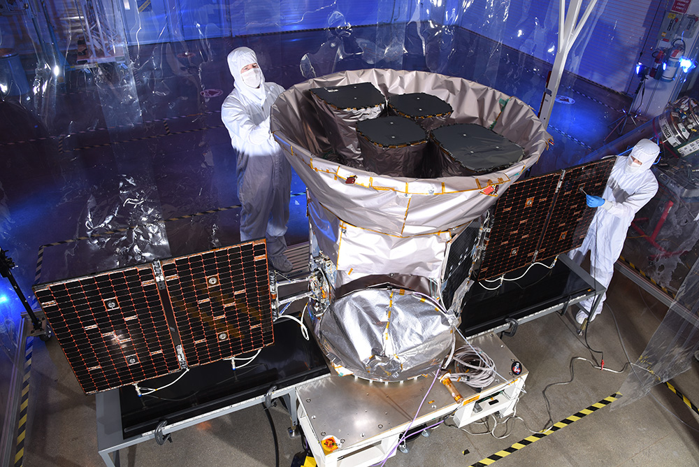 NASA's Transiting Exoplanet Survey Satellite (TESS) was designed, manufactured and tested by Northrop Grumman in the company's Dulles, Virginia, satellite manufacturing facility. The company is also responsible for handling mission operations for the observatory