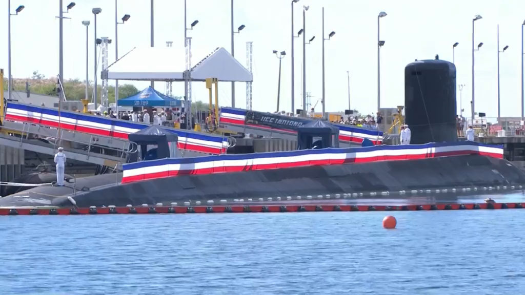 The U.S. Navy commissioned its newest fast attack submarine, the future USS Indiana (SSN-789)