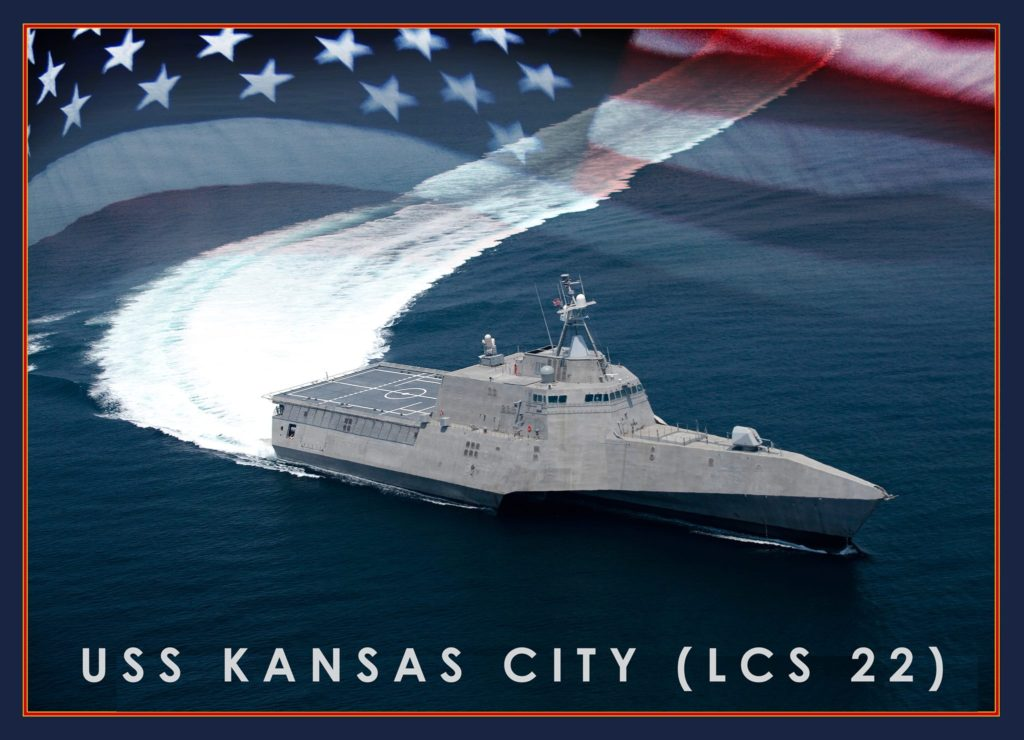 A graphic representation of the future USS Kansas City (LCS-22) (U.S. Navy graphic/Released)