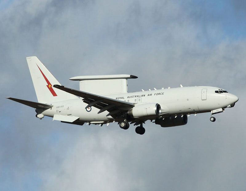 The E-7 Wedgetail, the UK Ministry of Defence's preferred successor to the Royal Air Force's E-3 AWACS, is based on the Boeing 737, and is an in-service, off-the-shelf aircraft that presents little developmental risk (RAAF photo)