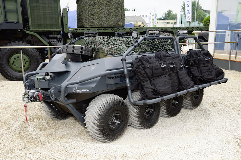 Rheinmetall's Mission Master unmanned ground vehicle was first unveiled at this year's Eurosatory trade show, and has now won a competition of military «Mule» vehicles by scoring over twice as any points as the runner-up (Rheinmetall photo)