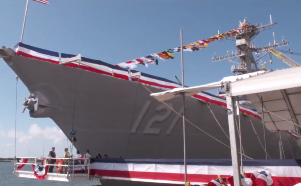 The future USS Frank E. Petersen Jr. (DDG-121) will be equipped with the U.S. Navy's Aegis Combat System, the world's foremost integrated naval weapon