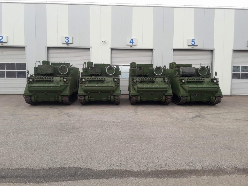 M577 command and control armoured personnel carriers of the Lithuanian Armed Forces upgraded