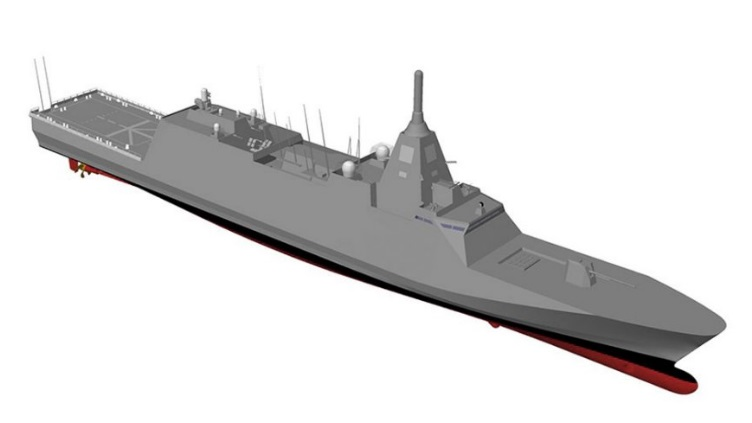 MHI has been awarded a contract by the Japanese MoD to build the first two of four ships of a new class of multirole frigate (seen here in computer-generated imagery) for the JMSDF (Source: MHI)