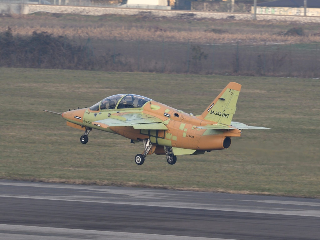 The M-345 is the new basic-advanced jet trainer aircraft produced by Leonardo