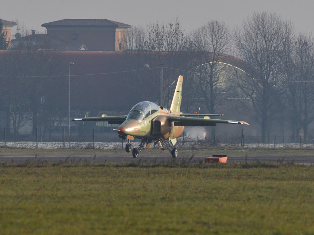 First M-345 production aircraft makes maiden flight