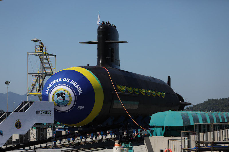 The first Brazilian Scorpène submarine