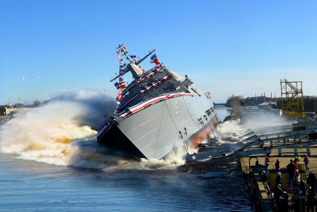 Littoral Combat Ship 19 (St. Louis) Christened and Launched