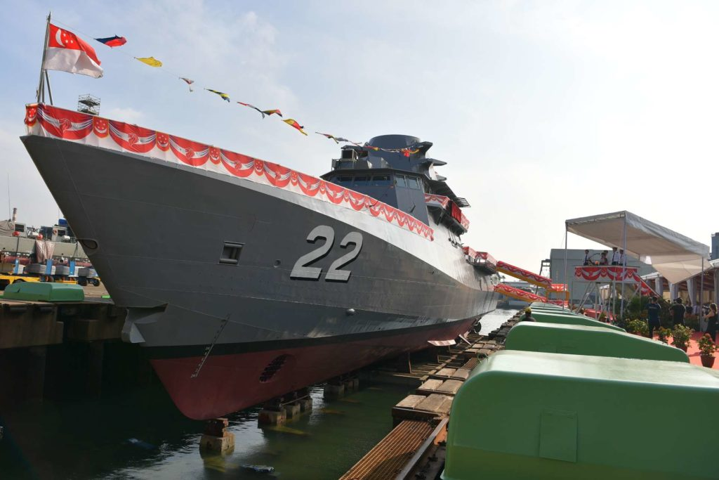 Singapore Navy launches final Littoral Mission Vessel, RSS Fearless 22