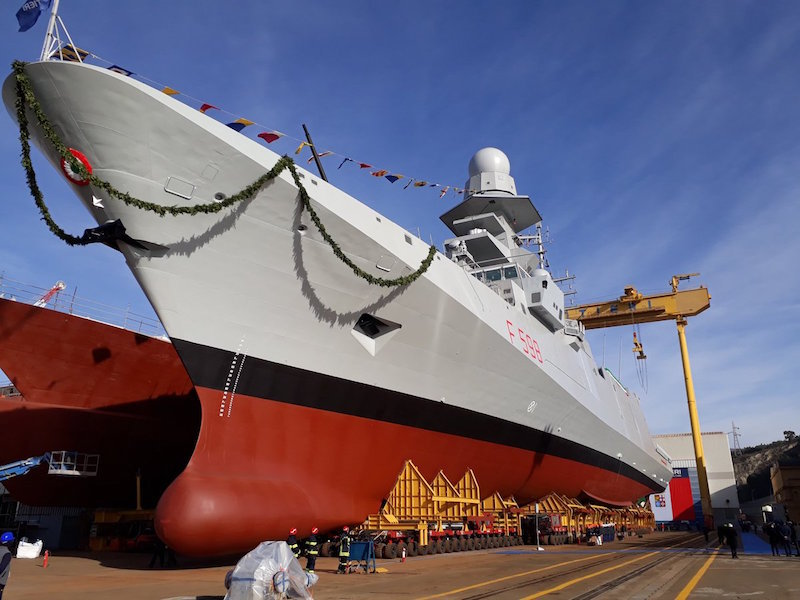 The ninth multipurpose frigate «Spartaco Schergat» launched