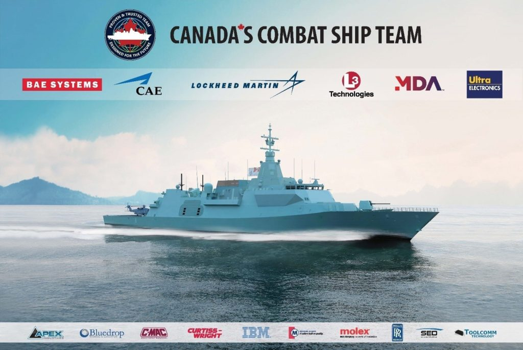 Canada's Combat Ship Team awarded contract for Canadian Surface Combatant