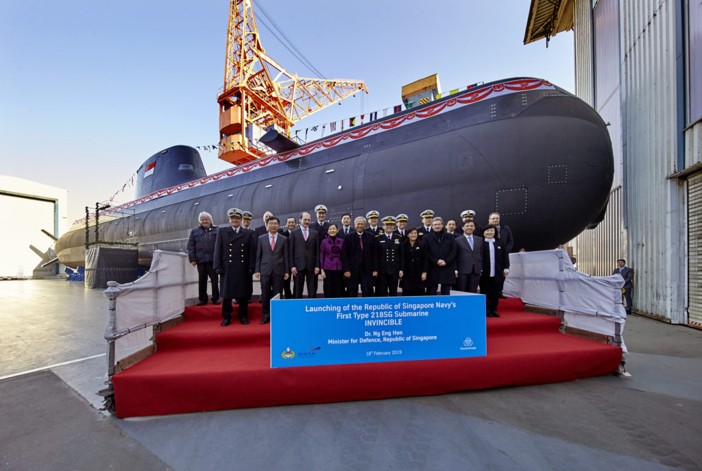 Launching of the Republic of Singapore's First Type 218SG Submarine