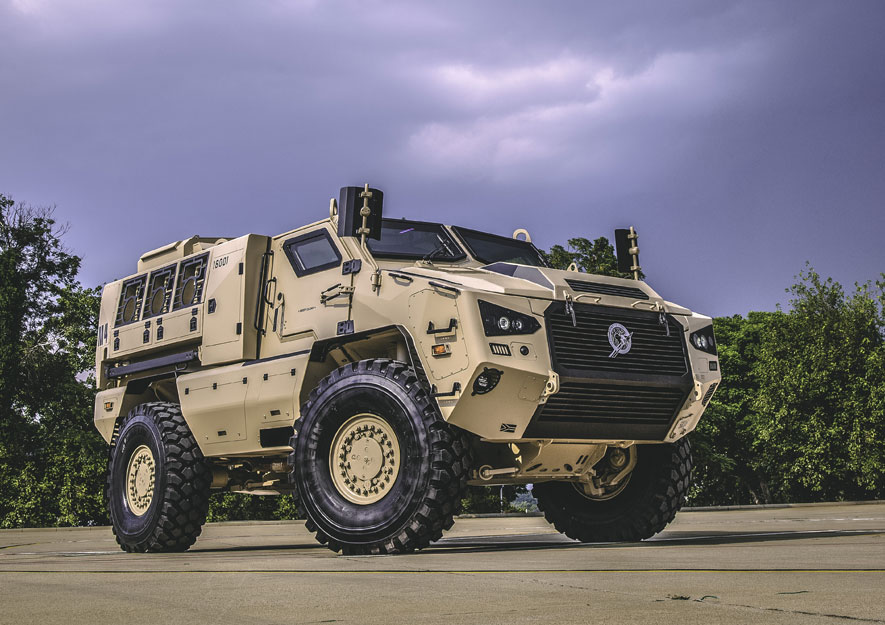 The new 4×4 is the smallest member of Paramount's Mbombe family, which also comprises 6×6 and 8×8 vehicles which share over 70% of components to reduce through life costs and ensure cost-efficient training and logistics (Paramount photo)