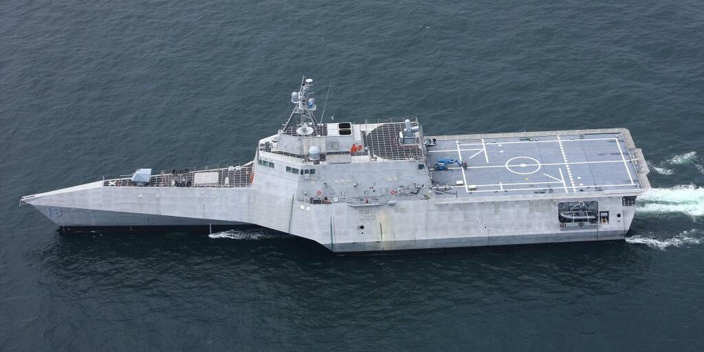 Navy commissioned Littoral Combat Ship Charleston