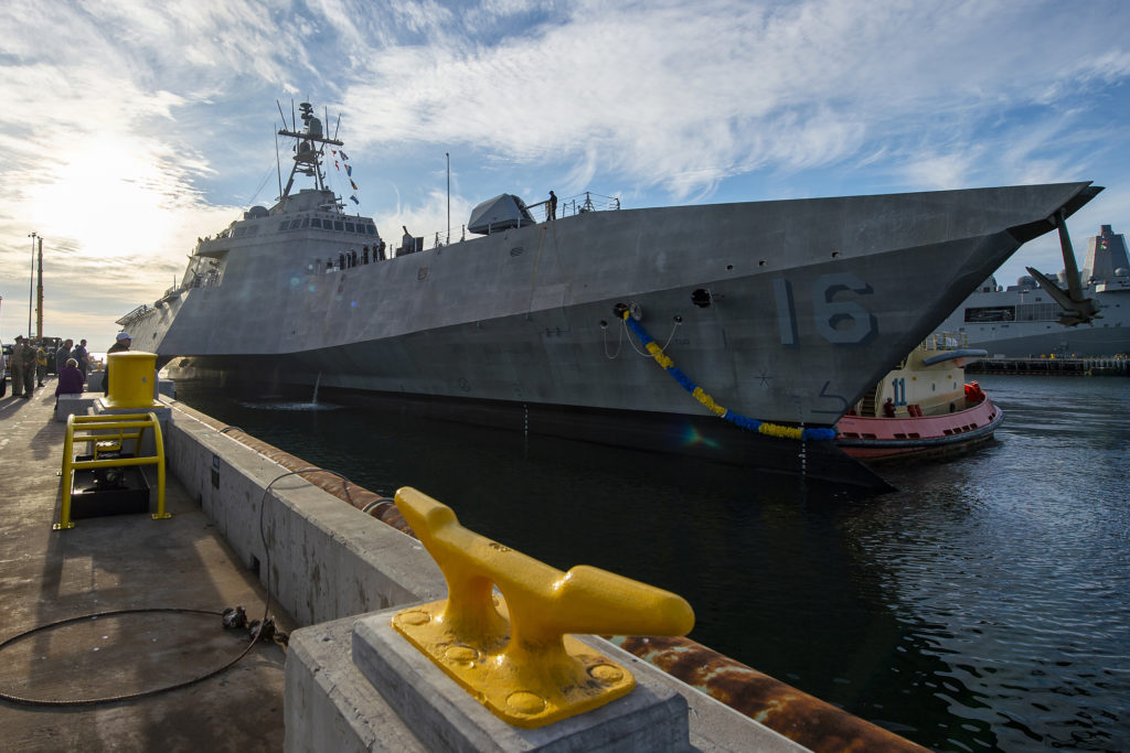 The U.S. Navy's newest Independence variant littoral combat ship USS Tulsa (LCS-16)