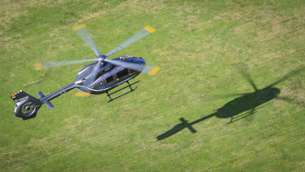 The new version of the H145 flies in the Pyrénées region of France