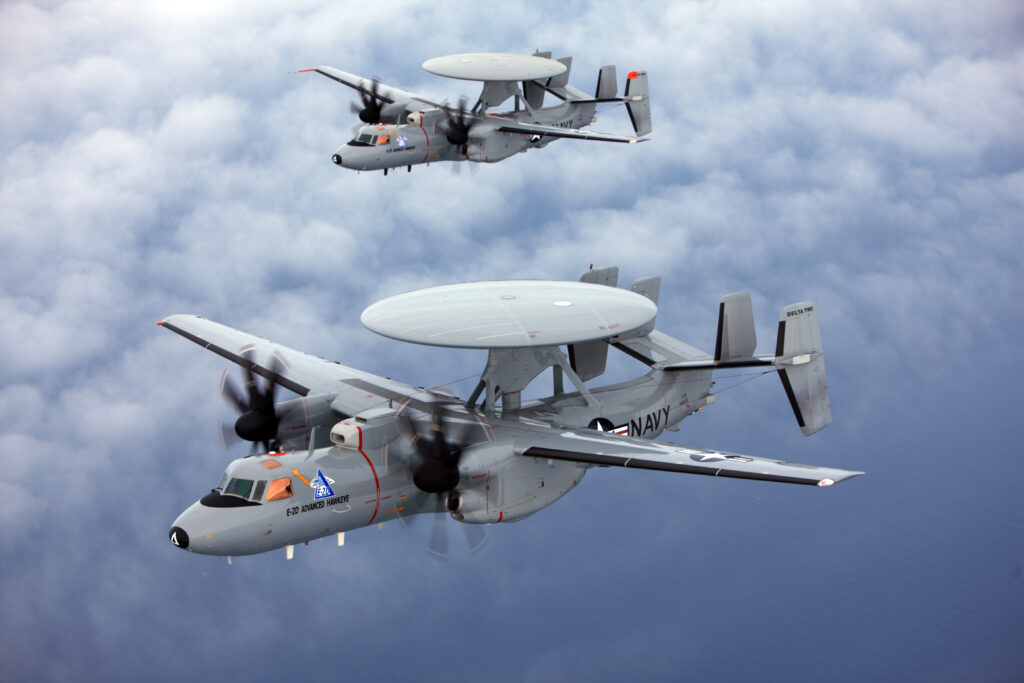 Northrop Grumman awarded $3.2 billion for 24 E-2D Advanced Hawkeyes to provide advanced early warning capability to the U.S. Navy (Photo courtesy of U.S. Navy)