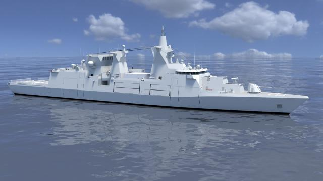 Multi-purpose combat ship 180: Concept graphic of the Federal Office for Equipment, Information Technology and Equipment of the Bundeswehr (Bundeswehr image)