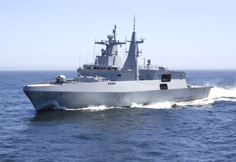 After winning the competition to supply four Tamandaré corvettes to Brazil, Germany's TKMS has now been granted export credit guarantees to supply six frigates to Egypt, of which three similar to this Meko A200 of the South African Navy (Wikipedia photo)