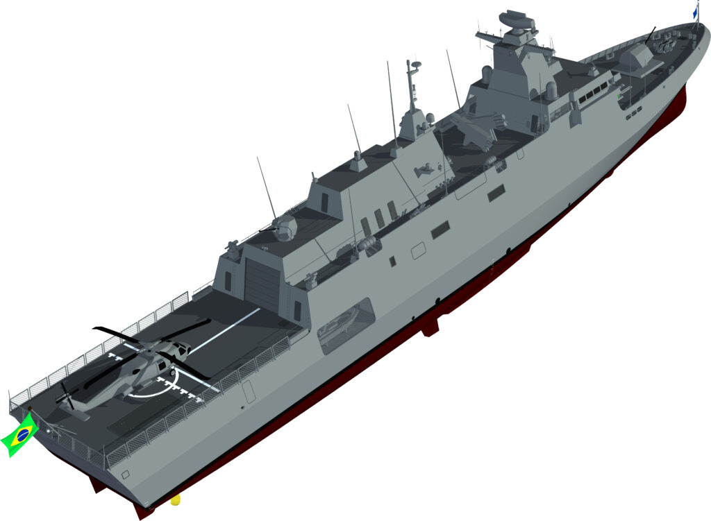 Águas Azuis Consortium was chosen as the preferred bidder to build four new Tamandaré Class Corvettes